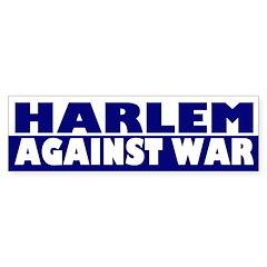 Harlem Against War (bumper sticker)