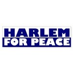 Harlem for Peace (bumper sticker)