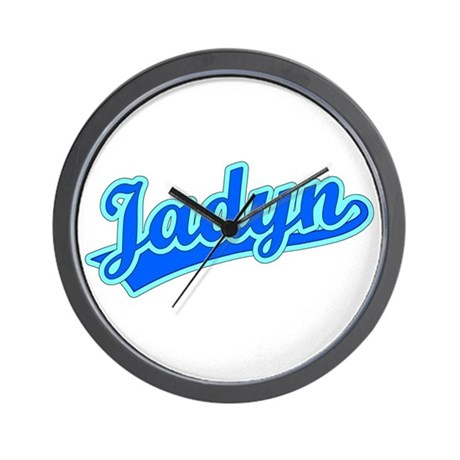 Retro Jadyn (Blue) Wall Clock