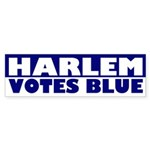 Harlem Votes Blue (bumper sticker)