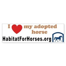 I love my adopted horse! (10x3 bumper sticker)