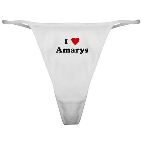 I Love Amarys Classic Thong