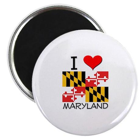 """I Love Maryland 2.25"""" Magnet (10 pack)"""