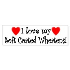 I Love My Soft Coated Wheatens Bumper Bumper Sticker
