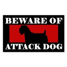 Beware of Attack Dog Soft Coated Wheaten Decal