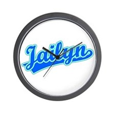 Retro Jailyn (Blue) Wall Clock