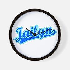 Retro Jailyn (Blue) Wall Clock