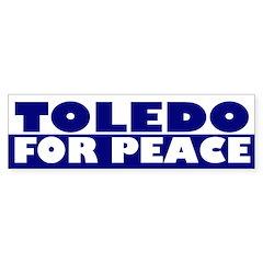 Toledo for Peace (bumper sticker)