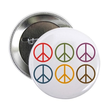 """Six Signs of Peace 2.25"""" Button"""