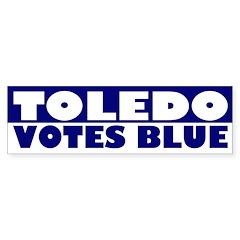 Toledo Votes Blue (bumper sticker)