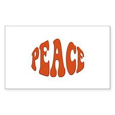 Peace Retro Rectangle Decal