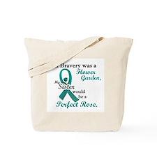 Flower Garden 1 Teal (Sister) Tote Bag