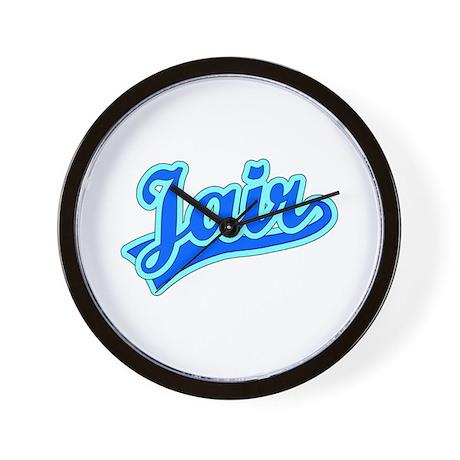Retro Jair (Blue) Wall Clock