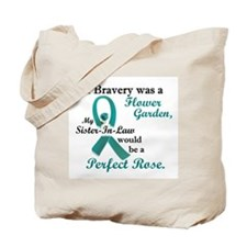 Flower Garden 1 Teal (Sister-In-Law) Tote Bag