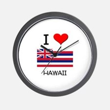 I Love Hawaii Wall Clock