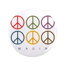 """Imagine - Six Signs of Peace 3.5"""" Button (100 pack"""