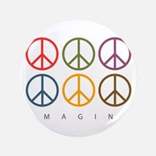 "Imagine - Six Signs of Peace 3.5"" Button (100 pack"