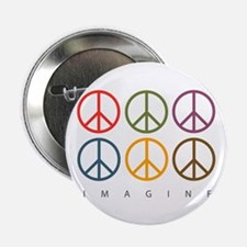 """Imagine - Six Signs of Peace 2.25"""" Button"""