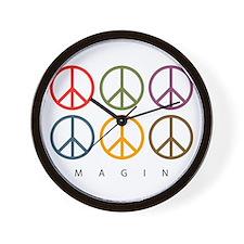 Imagine - Six Signs of Peace Wall Clock