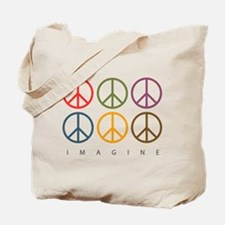 Imagine - Six Signs of Peace Tote Bag