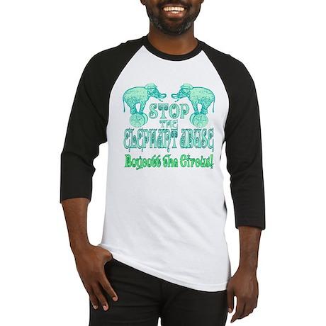Circus Boycott -Green Baseball Jersey