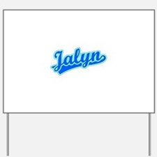 Retro Jalyn (Blue) Yard Sign