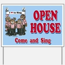 Barbershop Harmony Open House Road Sign