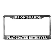 K9 Board Flat-Coated Retriever License Plate Frame