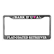 Bark Flat-Coated Retriever License Plate Frame