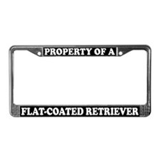 Property Flat-Coated Retriever License Plate Frame