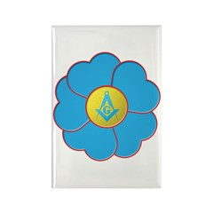 Masonic Forget Me Not Rectangle Magnet (10 pack)