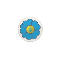 Masonic Forget Me Not Mini Button (10 pack)