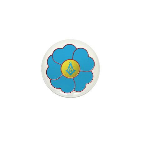 Masonic Forget Me Not Mini Button