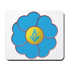 Masonic Forget Me Not Mousepad