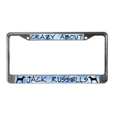 Crazy About Jack Russells License Plate Frame