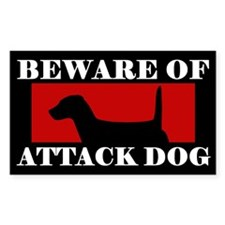 Beware of Attack Dog Jack Russell Decal