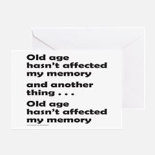 OLD AGE Greeting Card