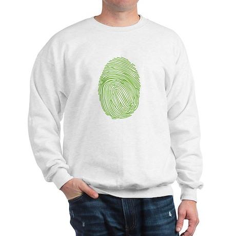 Green Fingerprint Sweatshirt