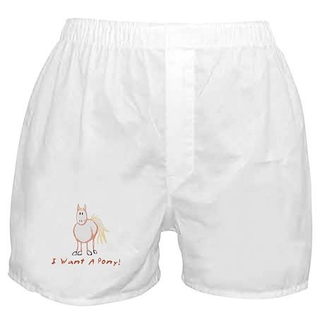 I Want a Pony Boxer Shorts