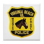 VA Beach Mounted PD Tile Coaster