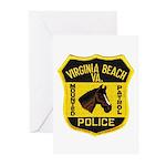 VA Beach Mounted PD Greeting Cards (Pk of 20)