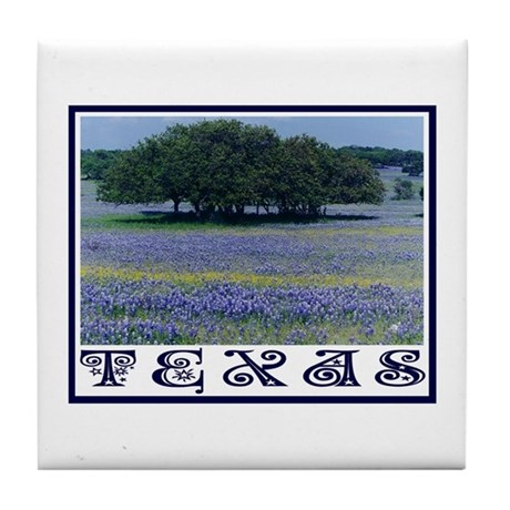 Texas Bluebonnets Tile Coaster