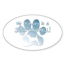 Jack Russell Granddog Oval Decal