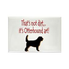 Otterhound Art Rectangle Magnet