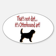 Otterhound Art Oval Sticker (10 pk)
