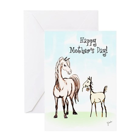 Mother's Day Horse Mom Greeting Card