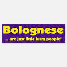 Furry People Bolognese Bumper Bumper Bumper Sticker