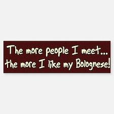 The More People Bolognese Bumper Bumper Bumper Sticker
