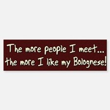 The More People Bolognese Bumper Car Car Sticker