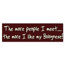 The More People Bolognese Bumper Car Sticker